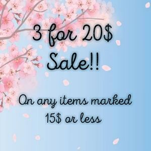 3/20$ SALE!! ❤❤ New Items!